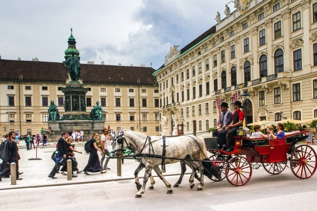 Vienna buildings and horses